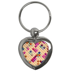 Mosaic & Co 01a  Key Chains (heart)  by MoreColorsinLife