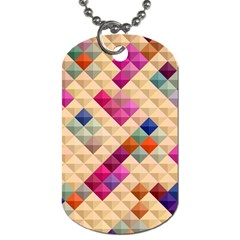 Mosaic & Co 01a  Dog Tag (two Sides) by MoreColorsinLife