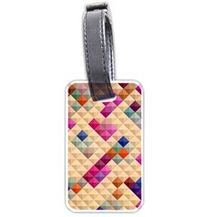 Mosaic & Co 01a  Luggage Tags (two Sides) by MoreColorsinLife