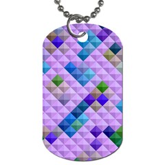 Mosaic & Co 01b Dog Tag (one Side) by MoreColorsinLife