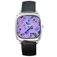 Mosaic & Co 01b Square Metal Watches by MoreColorsinLife