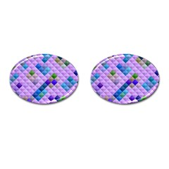 Mosaic & Co 01b Cufflinks (oval) by MoreColorsinLife