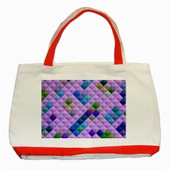 Mosaic & Co 01b Classic Tote Bag (Red)  by MoreColorsinLife
