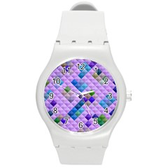 Mosaic & Co 01b Round Plastic Sport Watch (m) by MoreColorsinLife