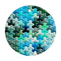 Mosaic & Co 02a Ornament (Round)  by MoreColorsinLife