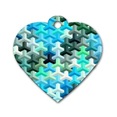 Mosaic & Co 02a Dog Tag Heart (one Side) by MoreColorsinLife