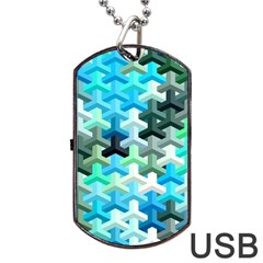 Mosaic & Co 02a Dog Tag Usb Flash (two Sides)  by MoreColorsinLife