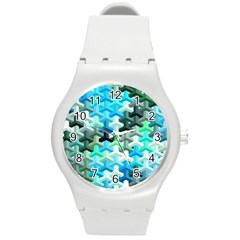 Mosaic & Co 02a Round Plastic Sport Watch (m) by MoreColorsinLife