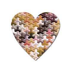 Mosaic & Co 02b Heart Magnet by MoreColorsinLife