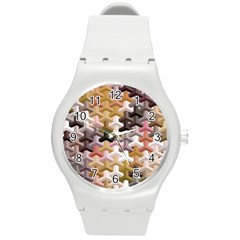 Mosaic & Co 02b Round Plastic Sport Watch (m) by MoreColorsinLife