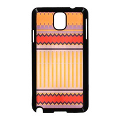 Stripes and chevronsSamsung Galaxy Note 3 Neo Hardshell Case (Black) by LalyLauraFLM