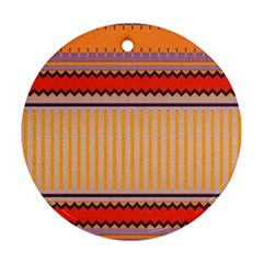 Stripes And Chevrons			ornament (round) by LalyLauraFLM