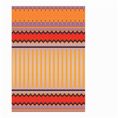 Stripes And Chevrons Small Garden Flag by LalyLauraFLM