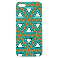 Triangles And Other Shapes Pattern			apple Iphone 5 Hardshell Case by LalyLauraFLM