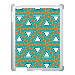 Triangles And Other Shapes Patternapple Ipad 3/4 Case (white) by LalyLauraFLM