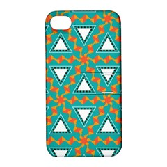 Triangles And Other Shapes Patternapple Iphone 4/4s Hardshell Case With Stand by LalyLauraFLM
