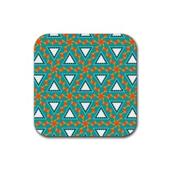Triangles And Other Shapes Pattern			rubber Square Coaster (4 Pack by LalyLauraFLM