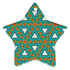 Triangles And Other Shapes Patternornament (star) by LalyLauraFLM