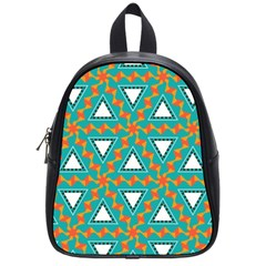 Triangles And Other Shapes Pattern			school Bag (small) by LalyLauraFLM