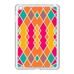 Symmetric Rhombus Designapple Ipad Mini Case (white) by LalyLauraFLM