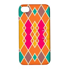Symmetric Rhombus Design			apple Iphone 4/4s Hardshell Case With Stand by LalyLauraFLM