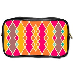Symmetric Rhombus Design Toiletries Bag (two Sides) by LalyLauraFLM