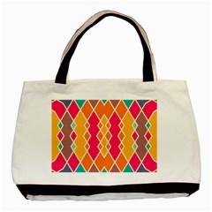 Symmetric Rhombus Designbasic Tote Bag by LalyLauraFLM