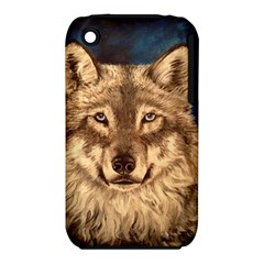 Wolf Apple Iphone 3g/3gs Hardshell Case (pc+silicone) by ArtByThree