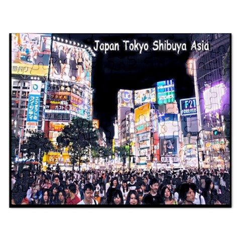 Japan Tokyo Shibuya Asia : Puzzle By Pamela Sue Goforth   Jigsaw Puzzle (rectangular)   5xsk5pngs6ba   Www Artscow Com Front