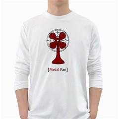 Metal Fan White Long Sleeve T Shirts
