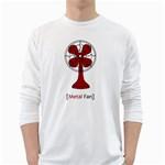 Metal Fan White Long Sleeve T-Shirts Front