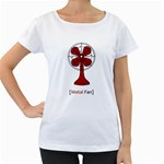 Metal Fan Women s Loose-Fit T-Shirt (White) Front