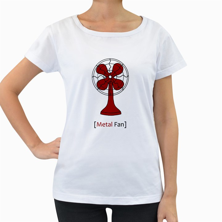 Metal Fan Women s Loose-Fit T-Shirt (White)