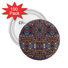 Kaleidoscope Folding Umbrella #10 2.25  Buttons (100 pack)  by BadBettyz