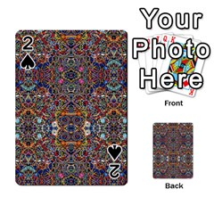 Kaleidoscope Folding Umbrella #10 Playing Cards 54 Designs