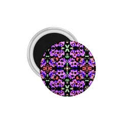Purple Green Flowers With Green 1 75  Magnets by Costasonlineshop