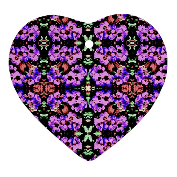 Purple Green Flowers With Green Ornament (Heart)