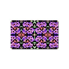 Purple Green Flowers With Green Magnet (name Card) by Costasonlineshop