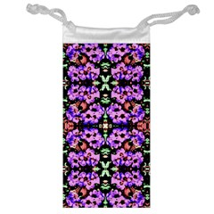 Purple Green Flowers With Green Jewelry Bags by Costasonlineshop