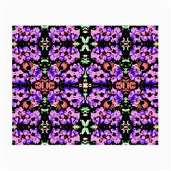 Purple Green Flowers With Green Small Glasses Cloth (2 Side) by Costasonlineshop