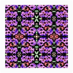 Purple Green Flowers With Green Medium Glasses Cloth (2 Side) by Costasonlineshop