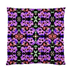 Purple Green Flowers With Green Standard Cushion Cases (two Sides)