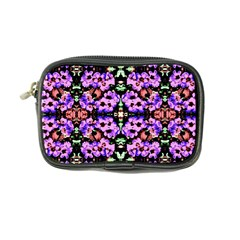 Purple Green Flowers With Green Coin Purse by Costasonlineshop