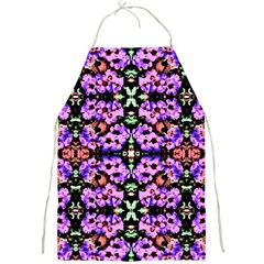 Purple Green Flowers With Green Full Print Aprons