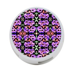 Purple Green Flowers With Green 4 Port Usb Hub (one Side) by Costasonlineshop