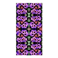 Purple Green Flowers With Green Shower Curtain 36  X 72  (stall)  by Costasonlineshop