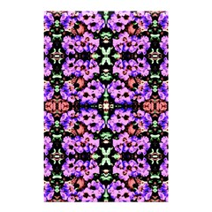 Purple Green Flowers With Green Shower Curtain 48  X 72  (small)