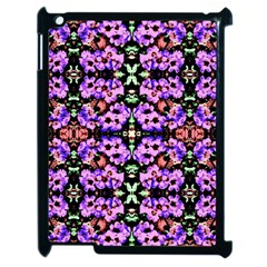 Purple Green Flowers With Green Apple Ipad 2 Case (black) by Costasonlineshop