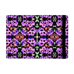Purple Green Flowers With Green Apple Ipad Mini Flip Case by Costasonlineshop