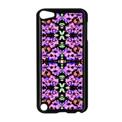 Purple Green Flowers With Green Apple Ipod Touch 5 Case (black)